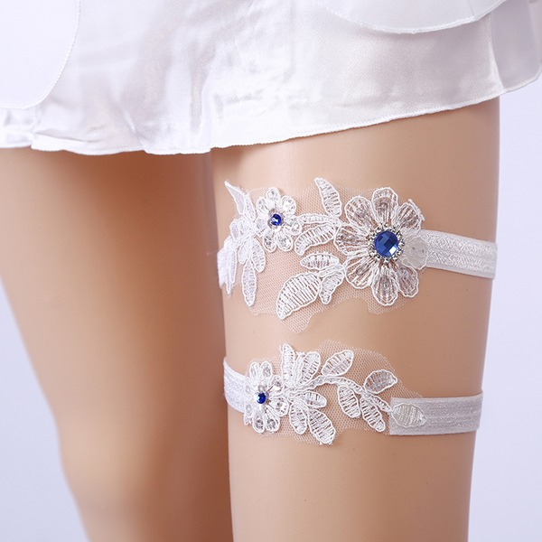 2-Piece/Sexy/Elegant Lace With Flower Wedding Garters