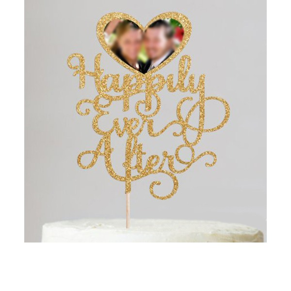 Photo Frame Acrylic/Wood Cake Topper