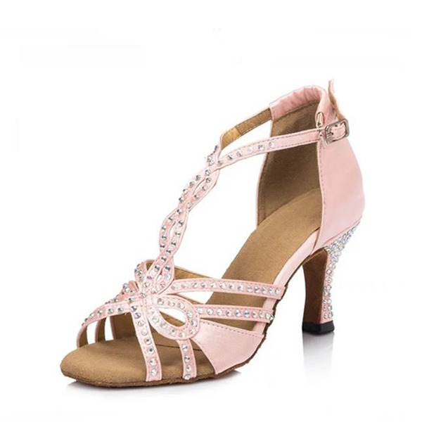 Women's Satin Flats Latin Dance Shoes