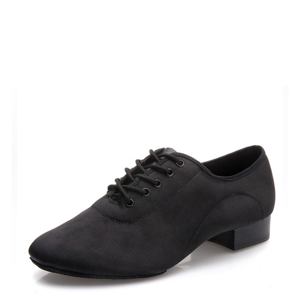 Men's Satin Ballroom With Lace-up Dance Shoes