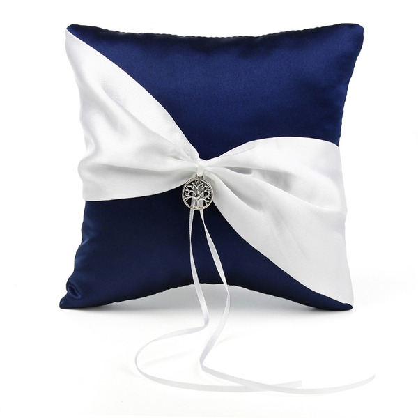Elegant Ring Pillow in Satin With Ribbons