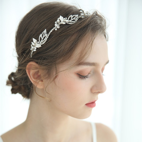 Ladies Glamourous Crystal/Rhinestone/Alloy Headbands Rhinestone (Sold in single piece)