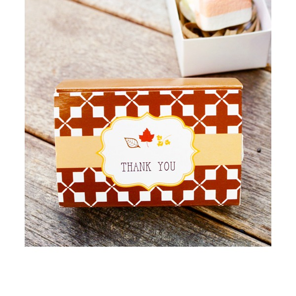 "Autumn ""Fall in Love"" Leaf Favor Box (Set of 12)"