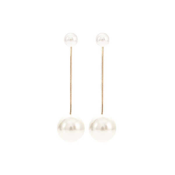 Fashionable Alloy Imitation Pearls With Imitation Pearl Women's Fashion Earrings (Sold in a single piece)