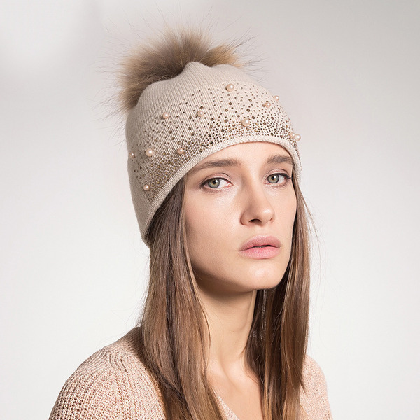 Ladies' Beautiful/Classic/Elegant Wool Beanie/Slouchy