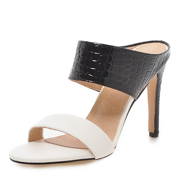 Women's Leatherette Stiletto Heel Sandals Pumps Peep Toe Slingbacks With Others shoes