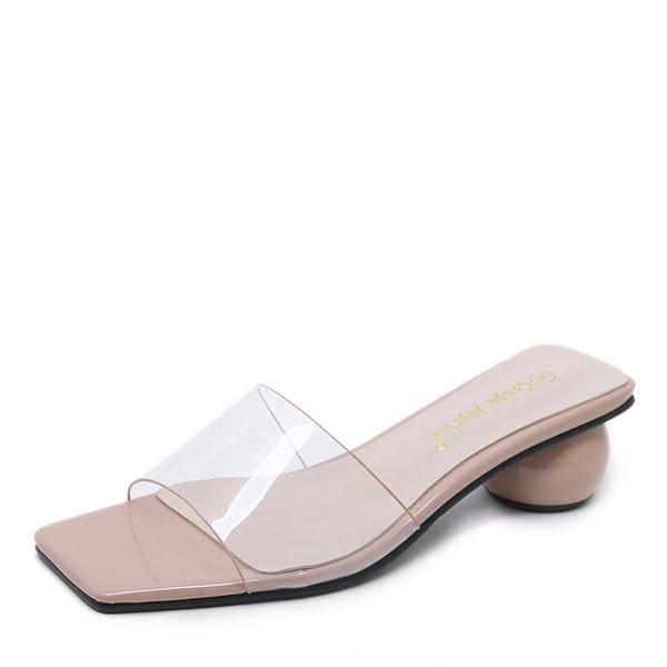 Mulheres PVC Salto agulha Sandálias Bombas Peep toe com Outros sapatos