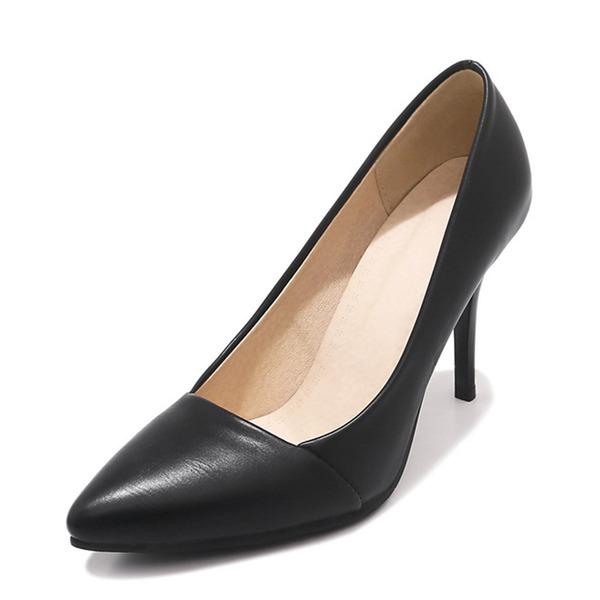 Dla kobiet Skóra ekologiczna Obcas Stiletto Czólenka Zakryte Palce obuwie