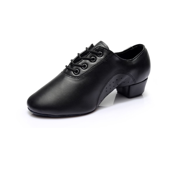 Men's Leatherette Heels Latin Ballroom Practice Character Shoes Dance Shoes