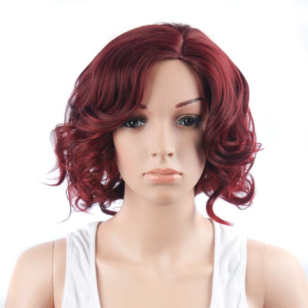 Curly Bob Synthetic Wigs (Sold in a single piece)