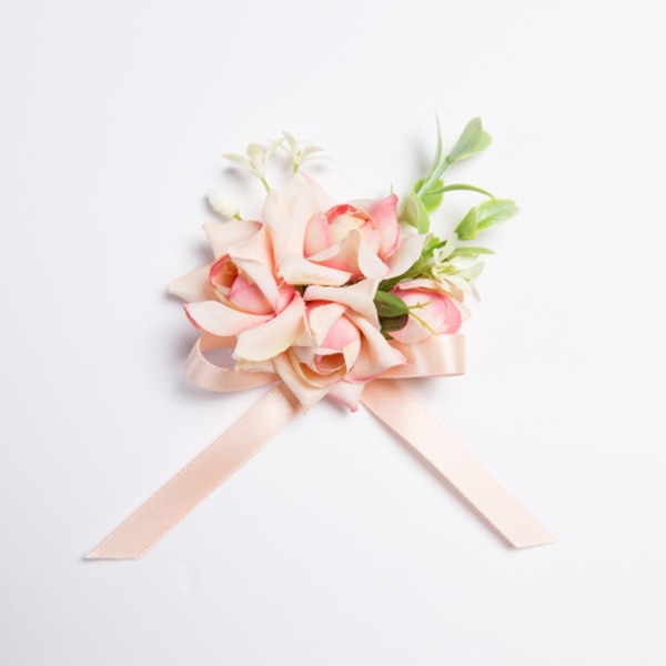 Pretty Free-Form Fabric Wrist Corsage (Sold in a single piece) -