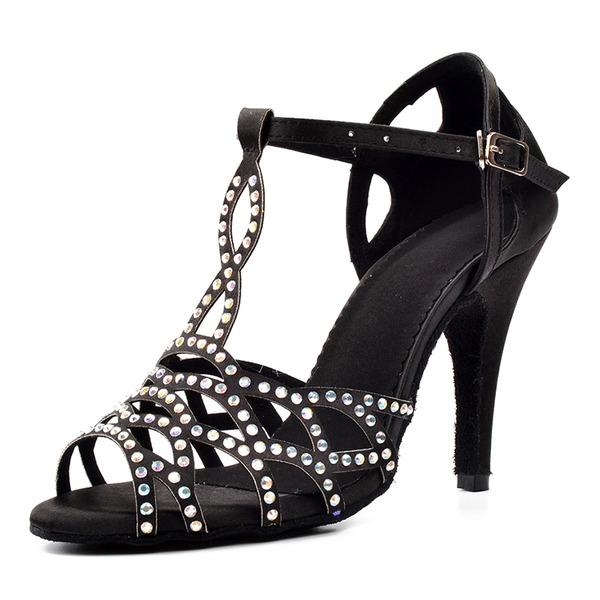 Femmes Satiné Sandales Latin Chaussures de danse