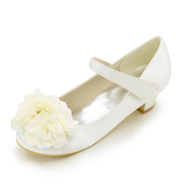 Closed Toe Low Heel Pumps Flower Girl Shoes