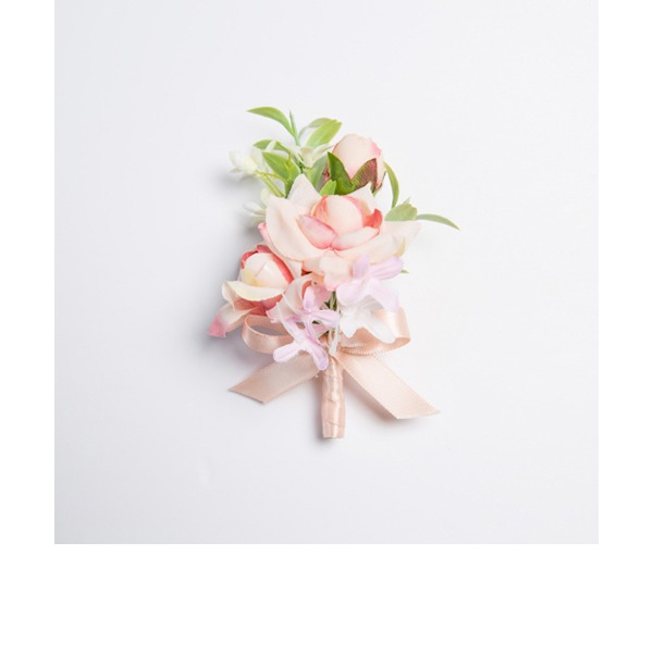 Attractive Free-Form Fabric Boutonniere (Sold in a single piece) -
