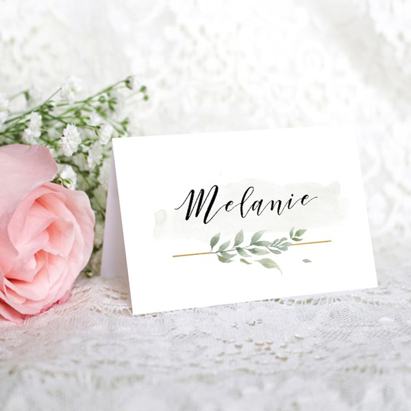 Place Cards Paper Personalized  Simple Table Centerpieces (Set of 50)