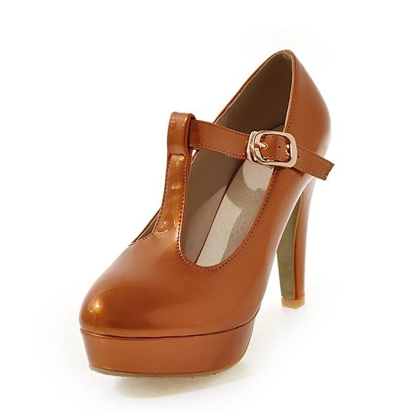 Donna Similpelle Tacco a spillo Stiletto Piattaforma con Fibbia scarpe