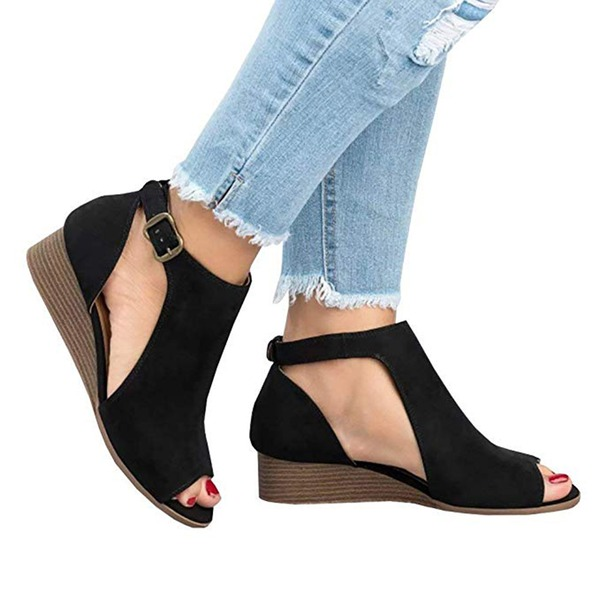 Women's Fabric Low Heel Sandals With Others shoes
