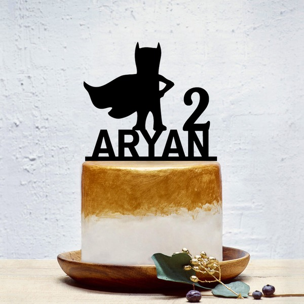 Personalized Classic Acrylic Cake Topper