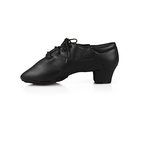 Men's Kids' Leatherette Flats Latin Ballroom Practice Character Shoes Dance Shoes