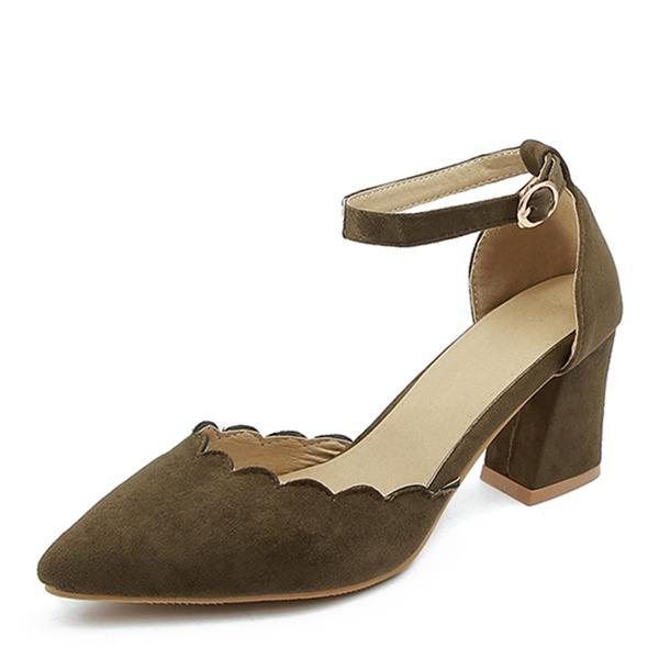 Dla kobiet Skóra ekologiczna Obcas Slupek Sandały Czólenka Zakryte Palce Z Klamra obuwie