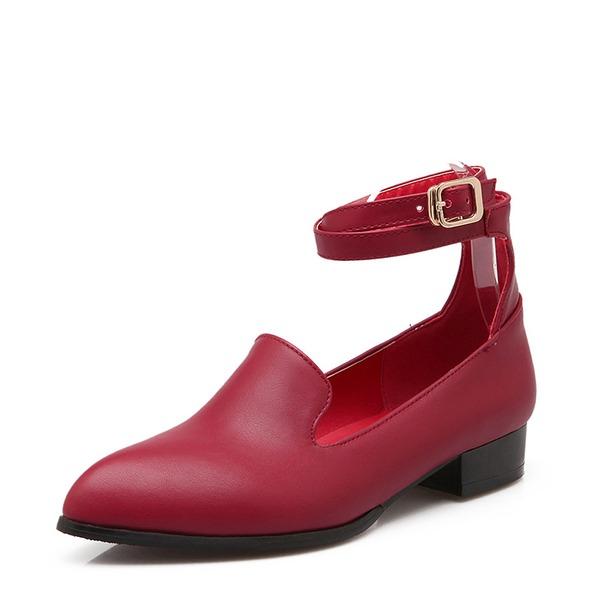 Kadın Suni deri Alçak Topuk Pompalar Kapalı Toe Ile Toka Diğerleri ayakkabı