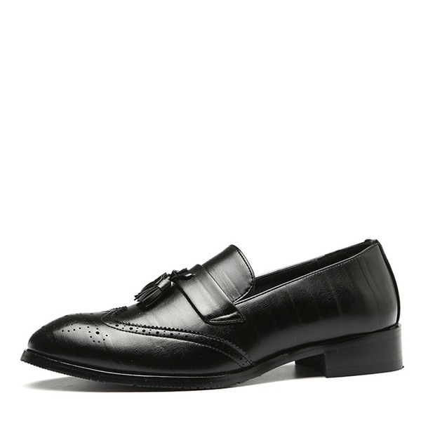 Maschile Similpelle Brogue Mocassino Nappa Casuale Mocassini da uomo