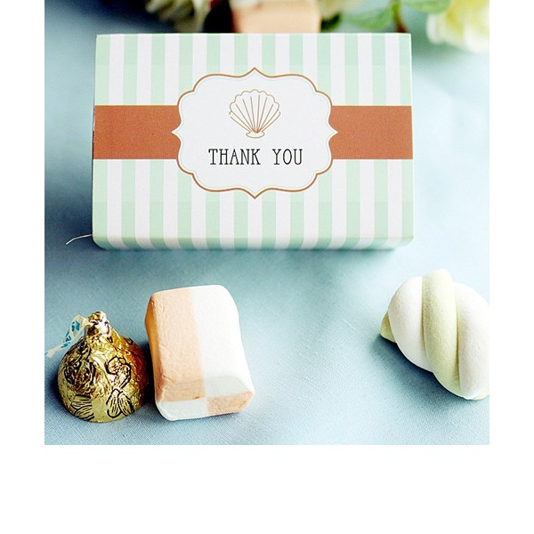 """Ocean Breeze"" Seashell Favor Box (Set of 12)"