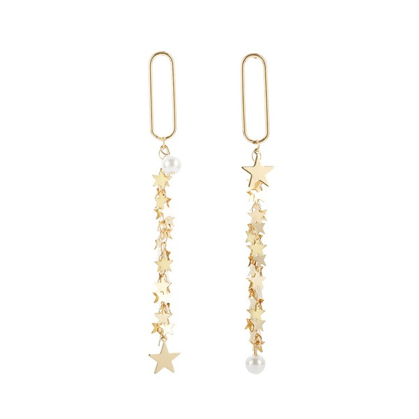Star Shaped Alloy Women's Fashion Earrings (Sold in a single piece)