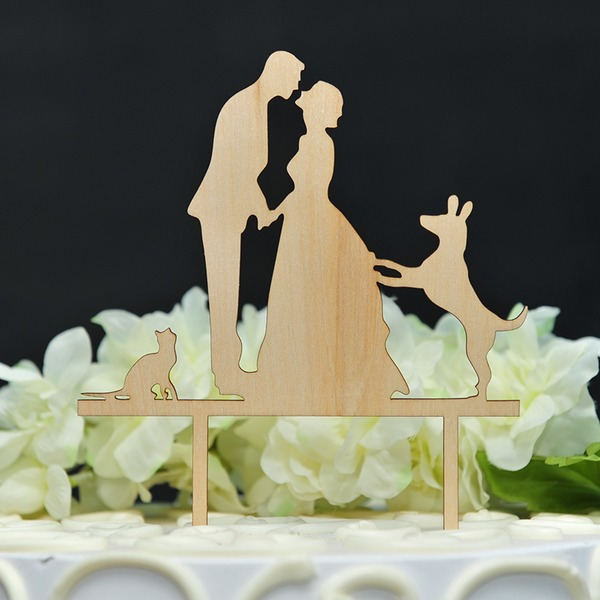 Balli di coppia/It Must Be Love Legno Decorazioni per torte