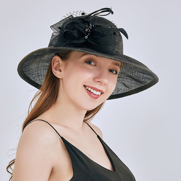 Ladies' Nice/Pretty Cambric With Flower Beach/Sun Hats/Kentucky Derby Hats/Tea Party Hats
