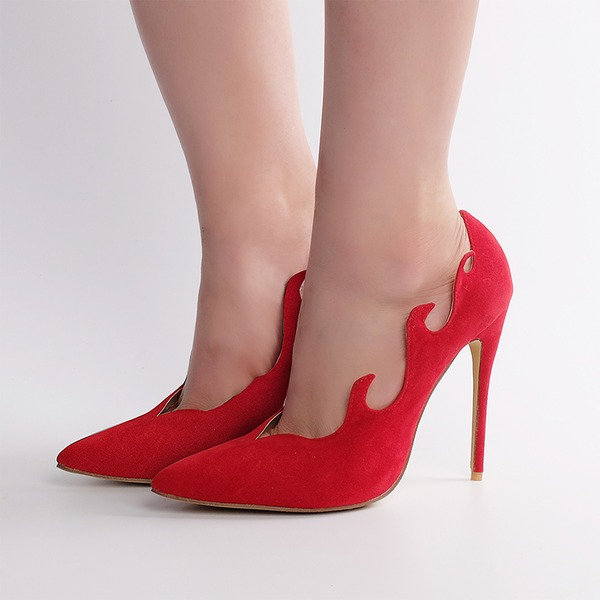 Women's Suede Stiletto Heel Pumps