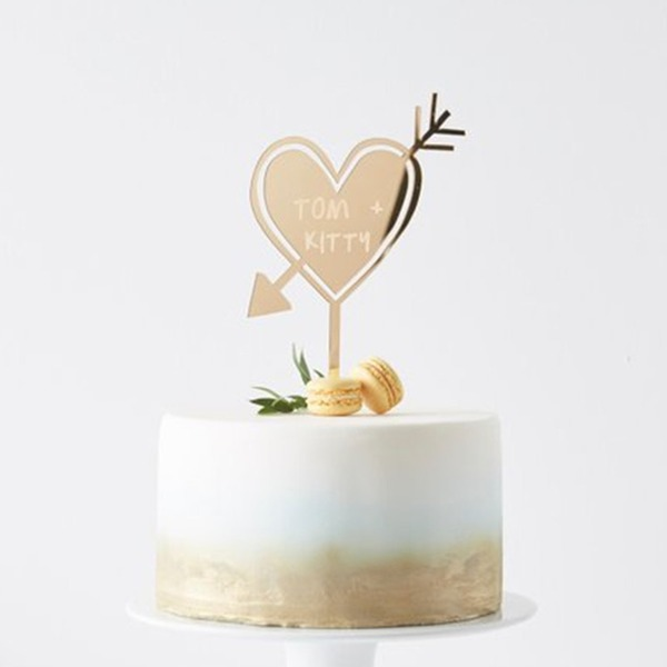 Personalized Woodland Acrylic/Wood Cake Topper