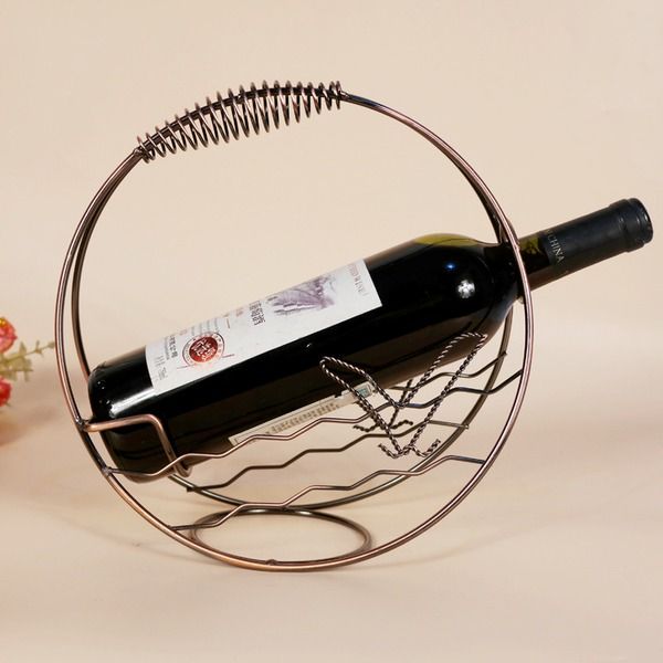 simple classic Iron Wine Rack