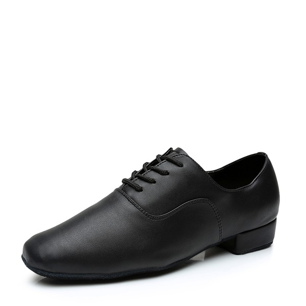 Men's Leatherette Ballroom With Lace-up Dance Shoes