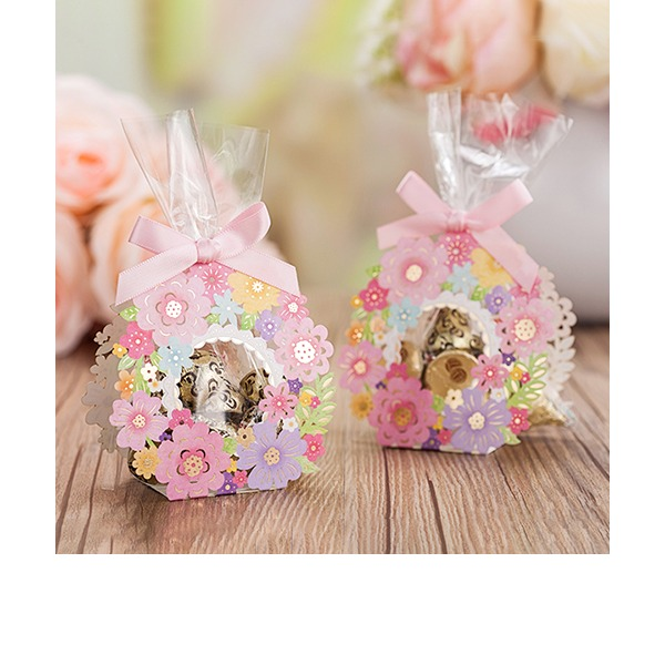 Other Card Paper Favor Bags With Ribbons (Set of 12)