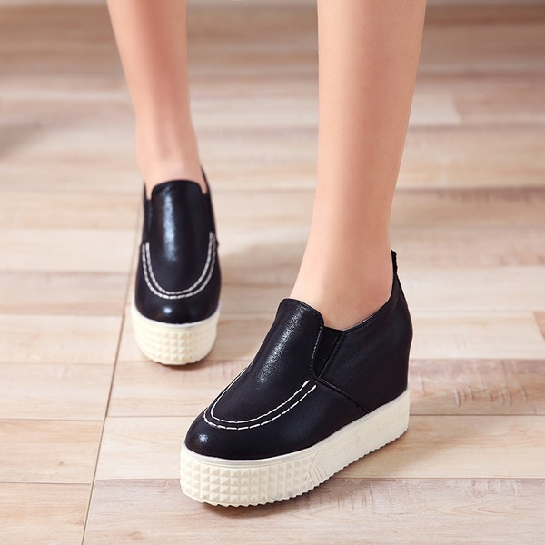 Women's Leatherette Wedge Heel Closed Toe Wedges With Others shoes