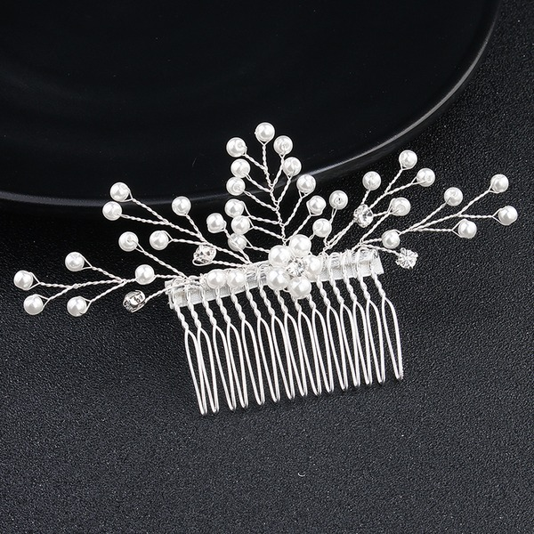 Ladies Eye-catching Alloy Combs & Barrettes With Venetian Pearl