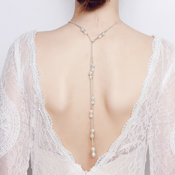 Unique Imitation Pearls With Imitation Pearl Women's Fashion Necklace