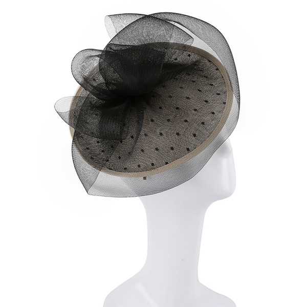 Ladies' Unique/Exquisite/Eye-catching Cambric With Tulle Fascinators