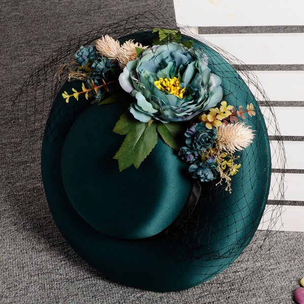 Ladies' Beautiful/Gorgeous/Fashion/Special Velvet With Flower Fascinators