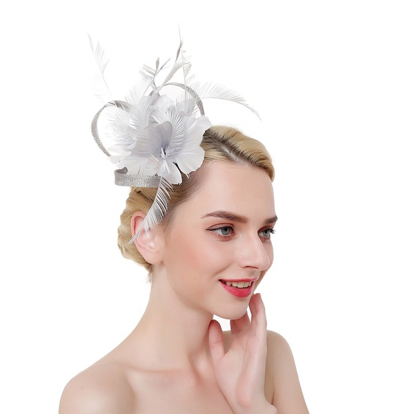 Dames Accrocheur/Charme/Romantique Batiste/Feather avec Feather Chapeaux de type fascinator/Kentucky Derby Des Chapeaux