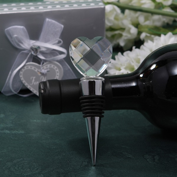 Classic Hearts Shape Bottle Stoppers With Crystal