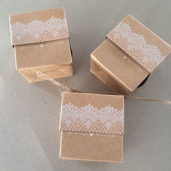 Cubic Card Paper Favor Boxes (Set of 50)