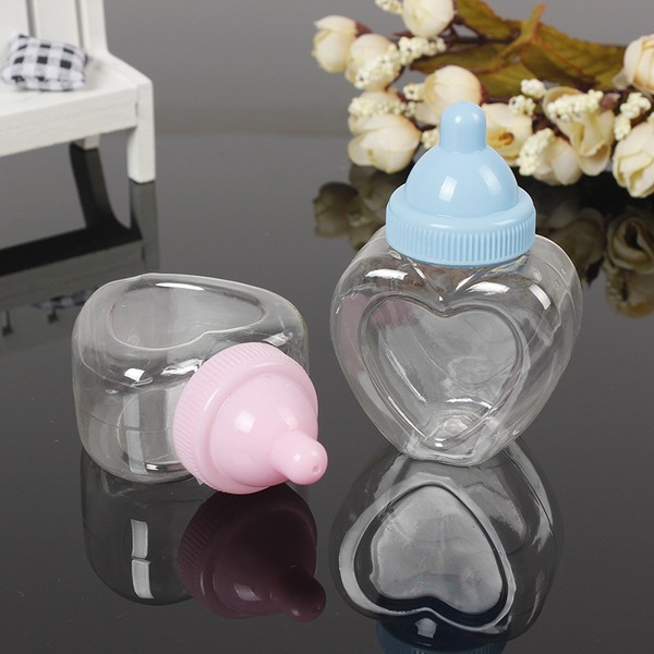 Creative/Lovely Heart-shaped Plastic Favor Boxes & Containers/Candy Jars and Bottles (Set of 12)
