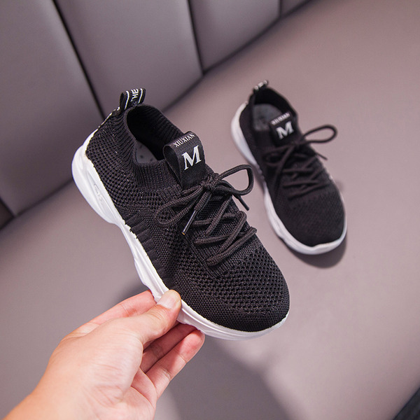 Unisex Round Toe Closed Toe Mesh Flat Heel Flats Sneakers & Athletic With Lace-up