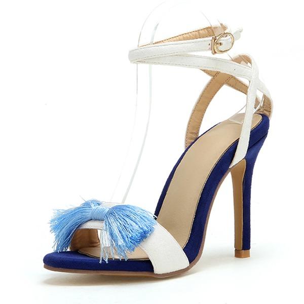 Femmes Similicuir Talon stiletto Escarpins avec Tassel chaussures