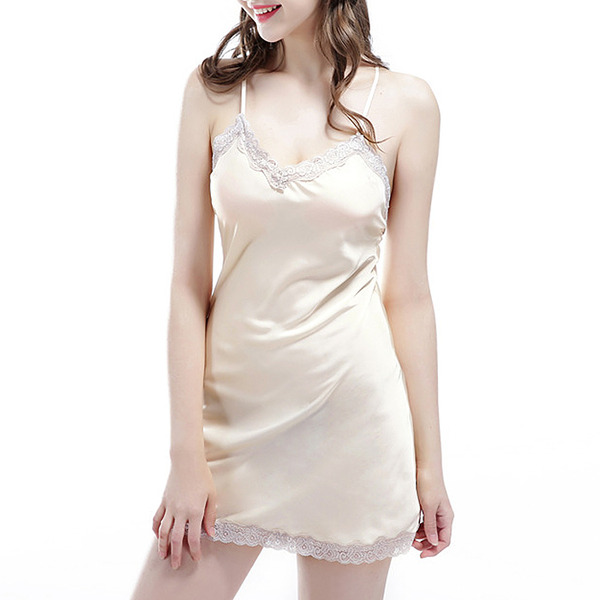 Elegant Imitated Silk Sleepwear/Bridal Lingerie/Slips