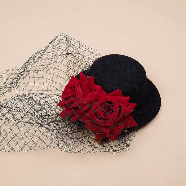 Ladies' Glamourous/Elegant/Simple/Handmade Velvet/Tulle Fascinators