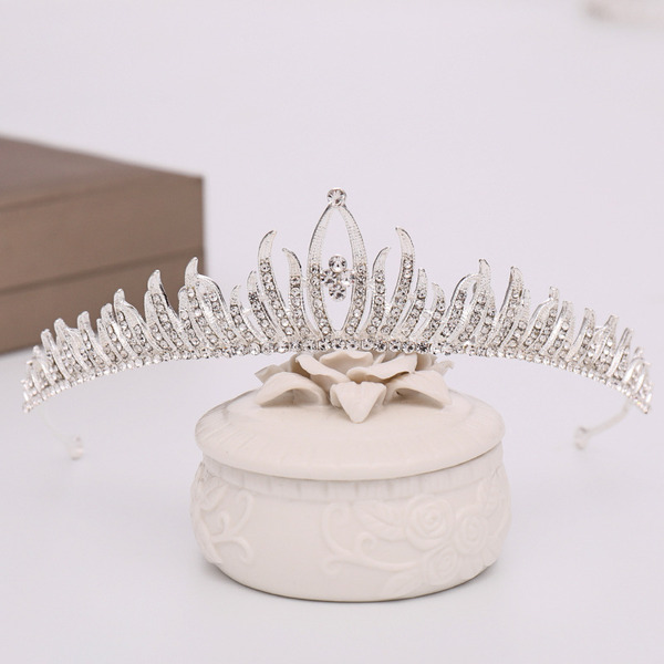 Ladies High Quality Rhinestone/Alloy Tiaras (Sold in single piece)