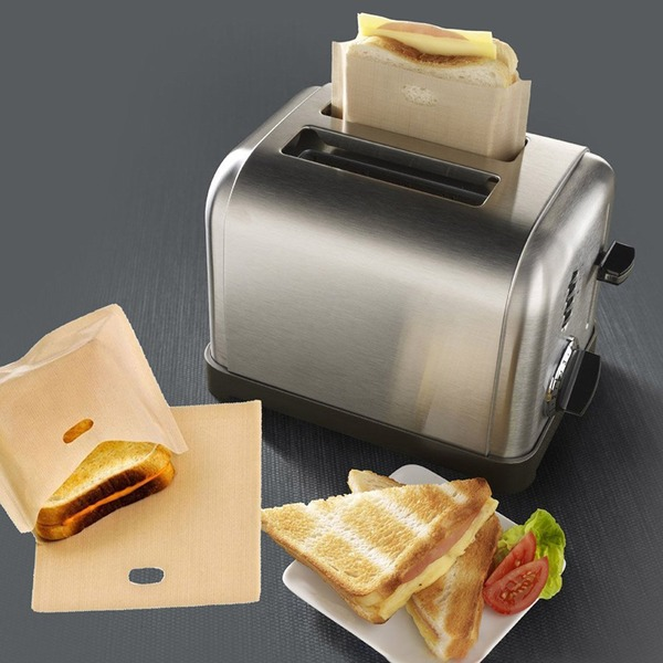 Treats Non Stick Reusable Toaster Bags for Sandwich and Grilling (Set of 3)